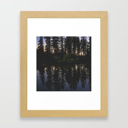 Manzanita Lake at Sunset Framed Art Print