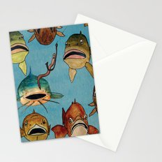 fishing with worms Stationery Cards