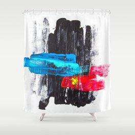 Paint it black II Shower Curtain