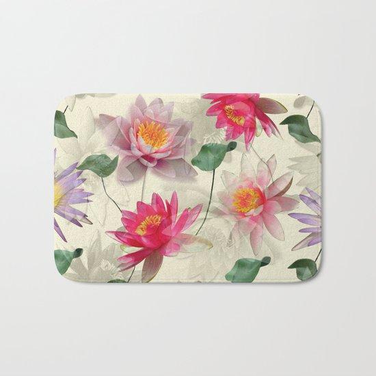 Lotus Flower Pattern Bath Mat