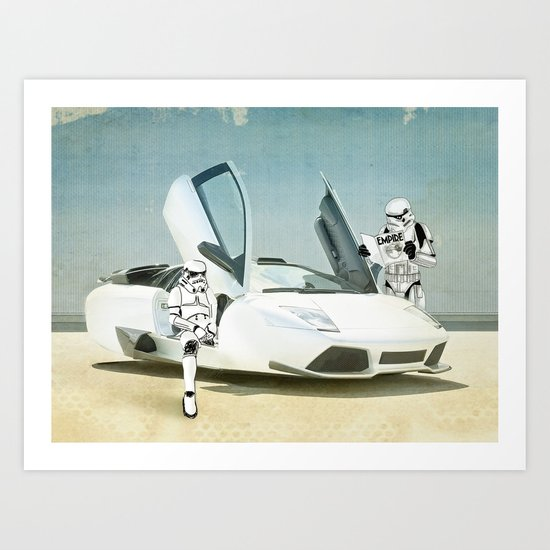 Lost searching for the Death Star 03 Art Print