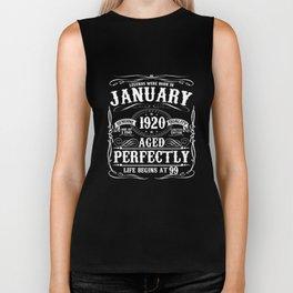January 1920 99th Birthday T-Shirt Funny 99 Year Gift Biker Tank