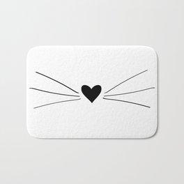 Cat Heart Nose & Whiskers Bath Mat