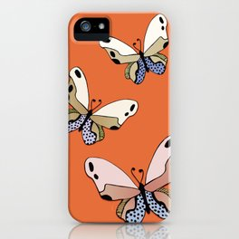 Vibrant Butterflies_Orange iPhone Case