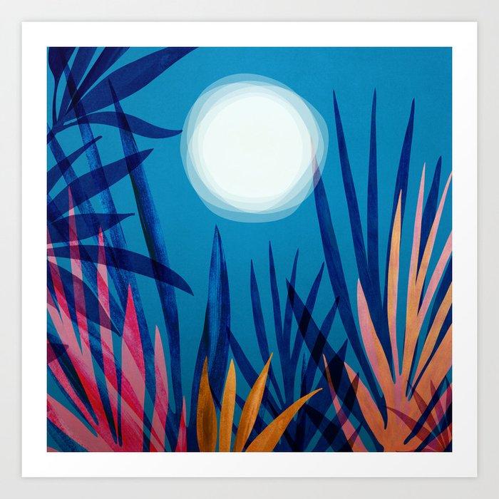 Tropical Moon / Tropical Night Series #5 Art Print