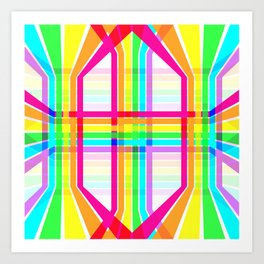 Weaved Rainbow Art Print