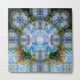 Nebula Mandala Metal Print