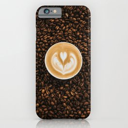 Coffee Beans & Coffee Cup iPhone Case