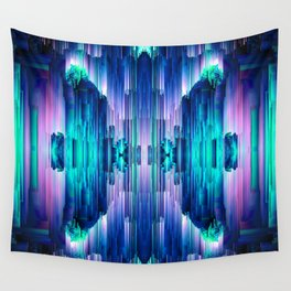 Cavernous Glitch - Abstract Pixel Art Wall Tapestry