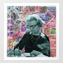 Stamp series no.1 Art Print