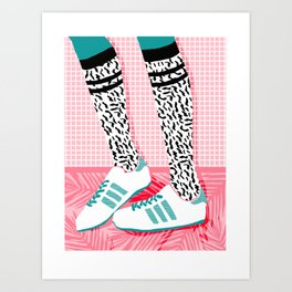Aiight - sports fashion retro throwback style 1980s neon palm springs socal country club hipster Art Print