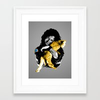 ripley Framed Art Prints featuring Officer Ripley by Naavech Verro