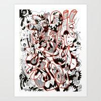 the man inside the iron heart Art Print