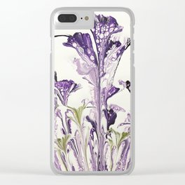 Lilac flower Clear iPhone Case