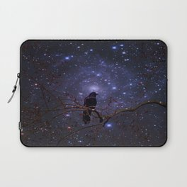 Black crow in moonlight Laptop Sleeve