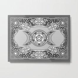 Triple Moon - Triple Goddess Ornament Metal Print