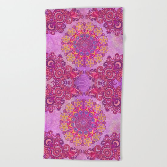 Mandala or something Beach Towel