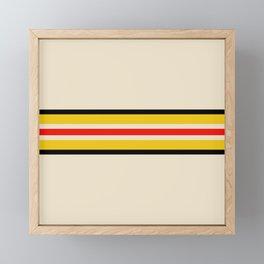 Classic Retro Stripes Amemasu Framed Mini Art Print
