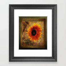 Vintage Sunflower Framed Framed Art Print