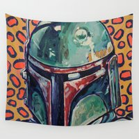 boba Wall Tapestries featuring BOBA FETT by Jamil Zakaria Keyani