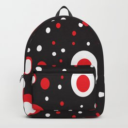 Red White Black Retro Circle Pattern Backpack