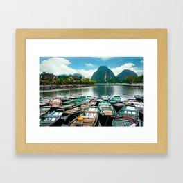 Tam Coc Vietnam Framed Art Print