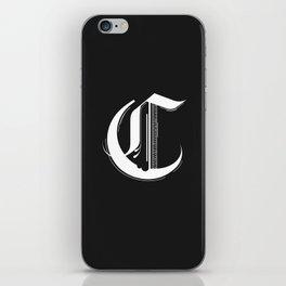 Letter C iPhone Skin
