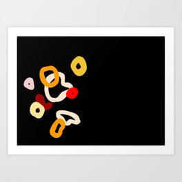 dark abstract Art Print