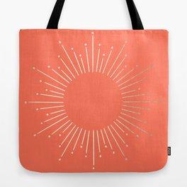 Simply Sunburst in Deep Coral Tote Bag