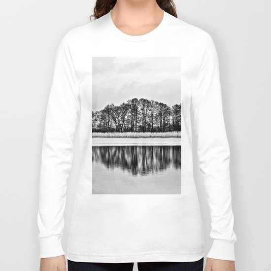 White Symphony of Winter Lake Long Sleeve T-shirt