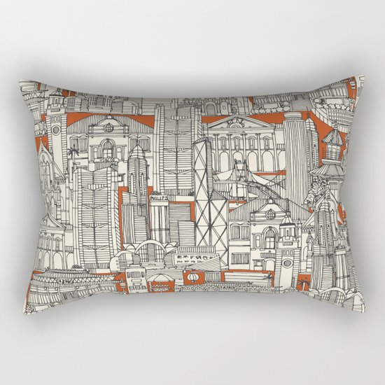 Hong Kong toile de jouy Rectangular Pillow