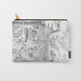 White Gears Carry-All Pouch