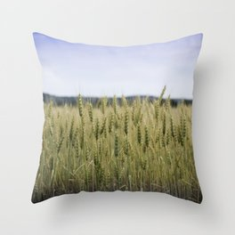 Grain Almost Ready For Harvest Throw Pillow