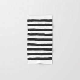 Black paint stripes Hand & Bath Towel