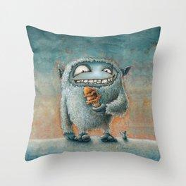Yeti Beti Throw Pillow
