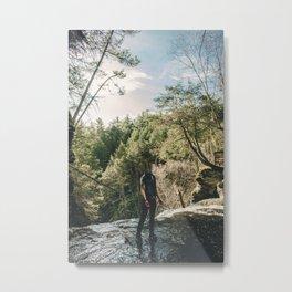 Mirrored Ghost Metal Print