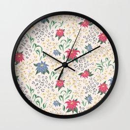 Tropical Opulence Pattern Wall Clock