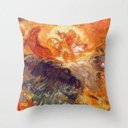 """Eugène Delacroix """"Apollo slays Python"""" Throw Pillow"""