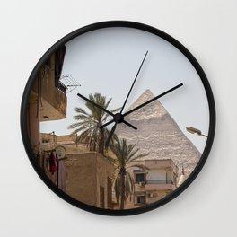Pyramids Road  Wall Clock