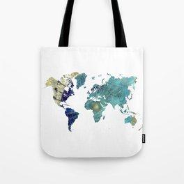 World Map Wind Rose Tote Bag