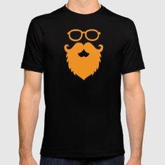 Hipster Beard MEDIUM Mens Fitted Tee Black