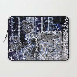 Winter night garden Laptop Sleeve