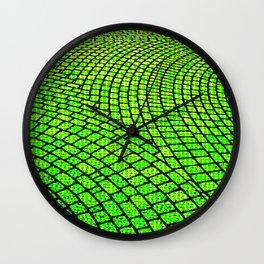Green Brick Road Wall Clock
