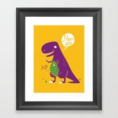 The Friendly T-Rex Framed Art Print