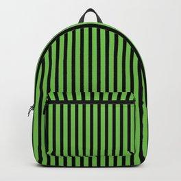 Green Flash and Black Stripes Backpack