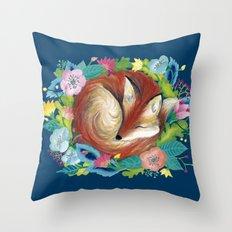 Sweet fox Throw Pillow