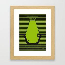 No991 My THE FLY minimal movie poster Framed Art Print