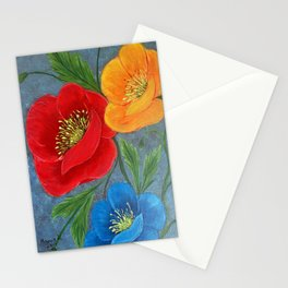 Poppies-3 Stationery Cards