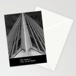 You have a Mies of my heart. Stationery Cards