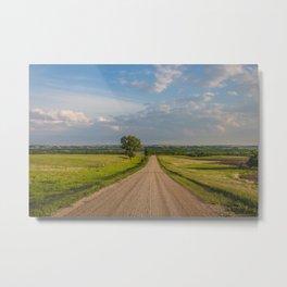 Country Road, North Dakota 2 Metal Print